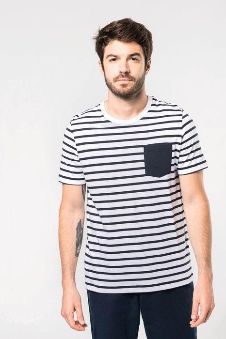 Pánské pruhované trièko s kapsièkou