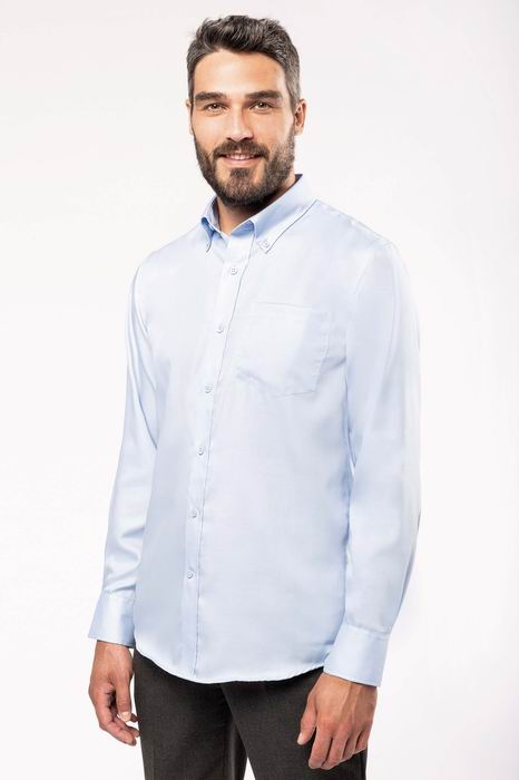 Pánská košile s dlouhým rukávem v nežehlivé úpravì