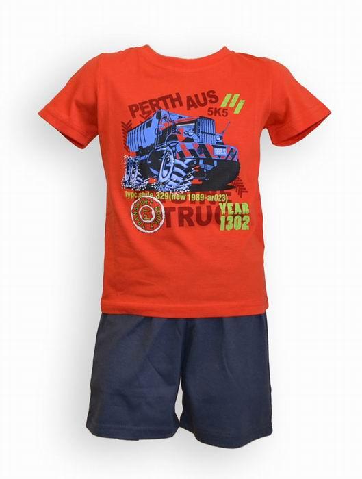 Dìtské pyžamo -  chlapecké, kr. rukáv