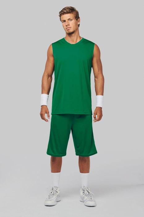Basketbalový dres - trièko bez rukávù do V